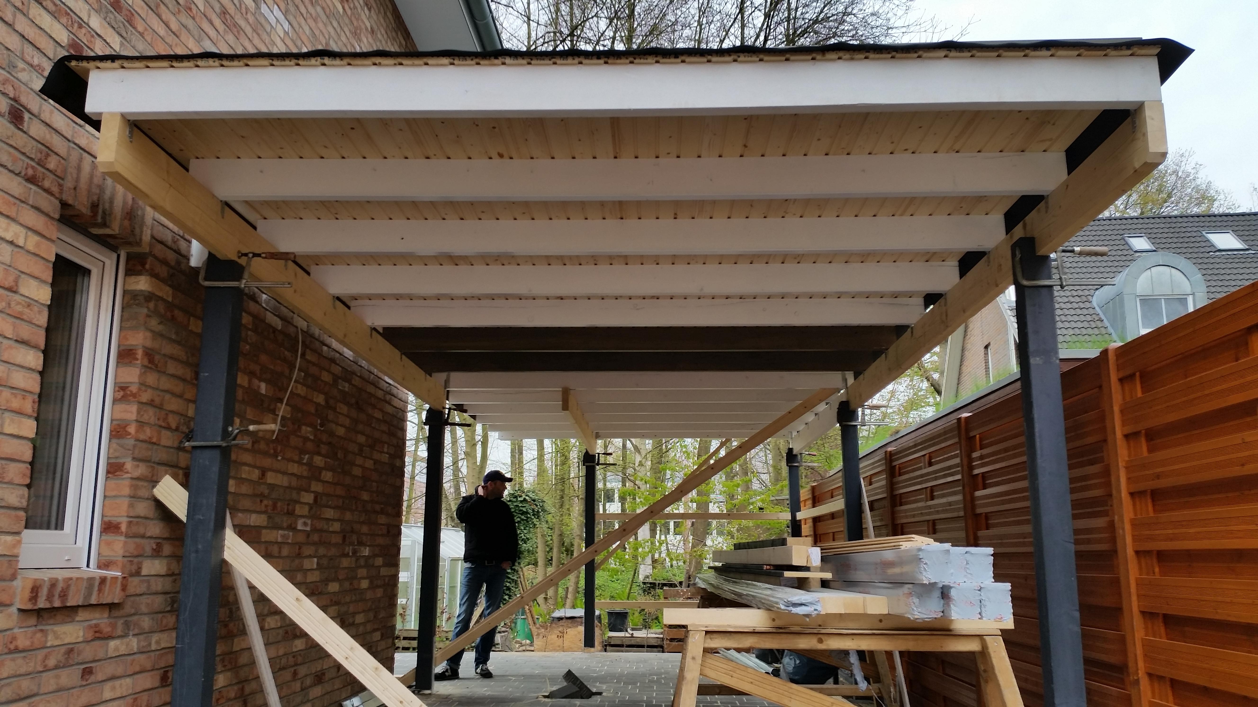 KW 16: Der Carport inkl. Schuppen wird gebaut – Bautagebuch ...